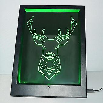 Jelenia głowa kolor zmiana rama światła LED lustra zdalnego sterowania