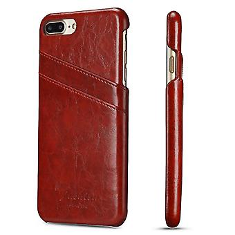 Pour iPhone 8 PLUS,7 PLUS Case,Elegant Deluxe Leather Protective Cover,Red