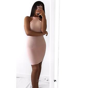 إيكروش المرأة إيلي مضلع فستان ميني