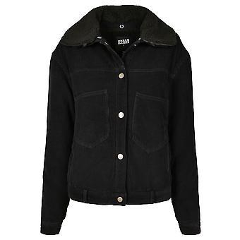 Urban Classics winterjas voor vrouwen oversized corduroy Sherpa