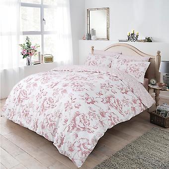 Monochrome Floral blush Bettwäsche Set
