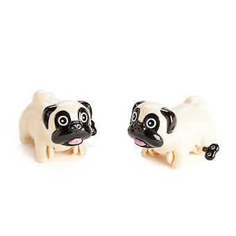 Wind Up Racing Pugs - Set of 2
