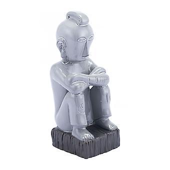 """6.1"""" x 5.3"""" x 14.2"""" Grau, Keramik, Figur"""