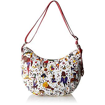 piero drives Hobo White Women's Crossbody Bag 35x30x15 cm (W x H x L)