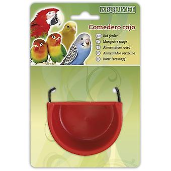 Arquivet Trough red 7,5x5,5x4 cm (Birds , Feeders & Water Dispensers , For Cages)