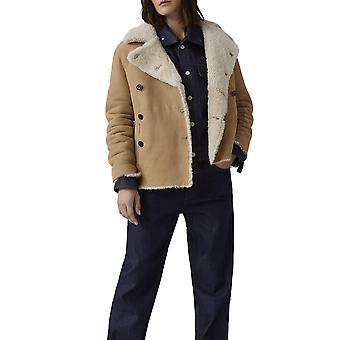 Closed C9799082b22251 Women's Beige Suede Outerwear Jacket