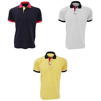 Kustom Kit Contrast Mens Short Sleeve Polo Shirt
