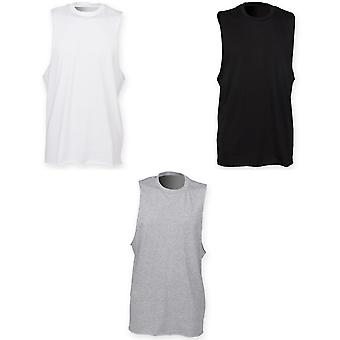 Skinnifit Mens High Neck Slash Armhole Vest