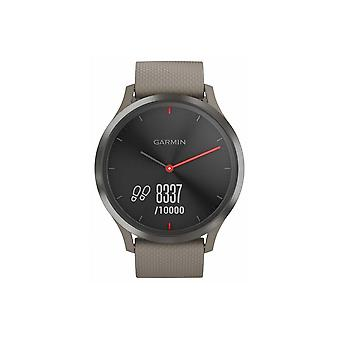 Garmin Watches 010-01850-03 Vivomove Hr, Black With Cream Silicone Band Touchscreen Watch