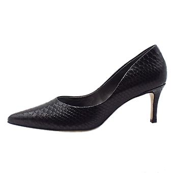 Högl 8-10 6107 Glam Stylish Pointed Toe Court Shoes In Black Snake
