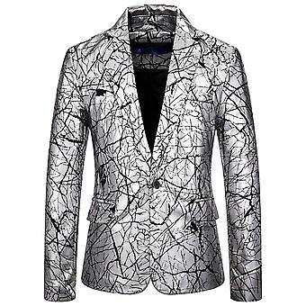 Allthemen Men's Printed Sport Coat 1 Buttoned Suit Jacket for Party Performance