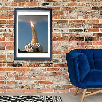 Hubble Telescope - STS-31 launch roll and pitch Poster Print Giclee