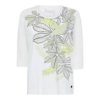TIGI Jungle Leaf-Print Top