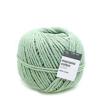Vivant Macramé cord cotton 150m x 5mm - mint green