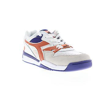 Diadora Rebound Ace Beta  Mens White Suede Lifestyle Sneakers Shoes