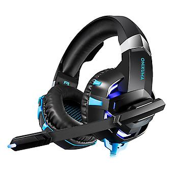 Onikuma K2 Pro, Gaming Headset, Blue