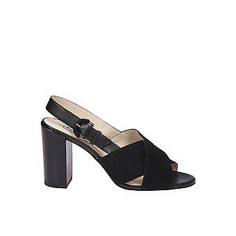 Tod's Ezgl027062 Women's Black Suede Sandals