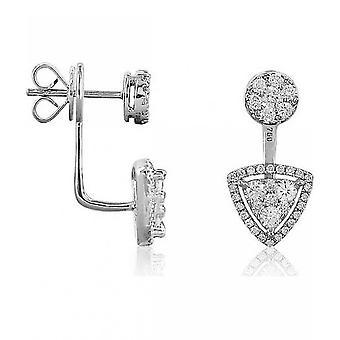 Luna-Pearls Diamond stud örhängen 750 vitguld 88 briljanter 1,02 ct. 1022383