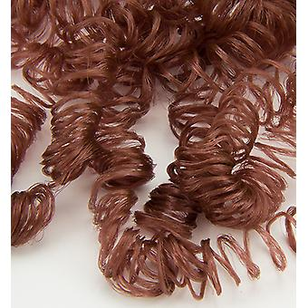 Hobby Crafting Fun Curly Doll Hair, nylon, brown