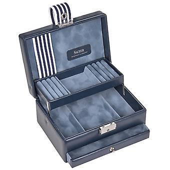 Sacher jewelry case jewelry box YOUNG blue lock drawer