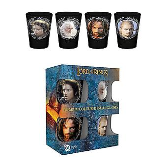 Lord of the Inele Caractere Shot de sticlă colorate 4-Pack