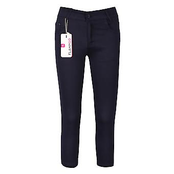 Navy Blue Casual Stretch Boys Chino Pants