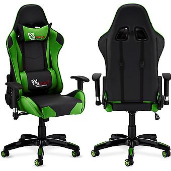 Furnhouse Gaming Chair Pit Stop, Verde/Negro, Base Plástica, 66x65x127 cm