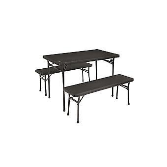 Outwell Pemberton Weatherproof Picnic Table With 2 Bench Seats Black