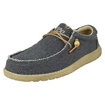 Mens Hey Dude Lace Up Casual Shoes Wally Braided