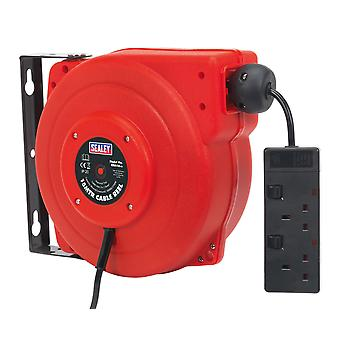 Sealey Crm15 Cable Reel System Retractable 15Mtr 2 X 230V Socket