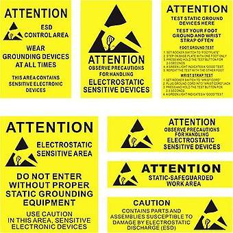 Quadrios ESD warning sign 1 pc(s) Yellow, Black (L x W) 140 mm x 140 mm