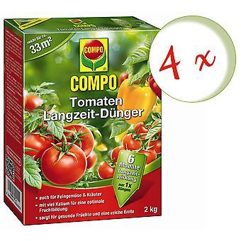 Sparset: 4 x помидоры COMPO долгосрочные удобрения, 2 кг