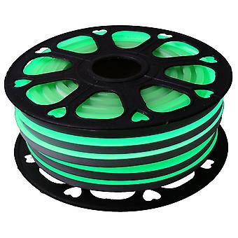 Jandei Tira LED NEON flexible 25m, Color luz verde 12VDC 6 * 12mm, corte 2,5cm, 120 led/m SMD2835, decoración, formas, cartel led