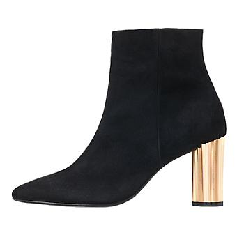 Högl 6-10 7602 Athena Stylish Ankle Boots In Black Suede