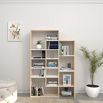 Libreria Atena Color Bianco, Sonoma in Truciolare Melaminico 93x27x140 cm