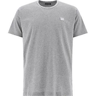 Acne Studios 25e173lightgreymelange Uomini's Grey Cotton T-shirt