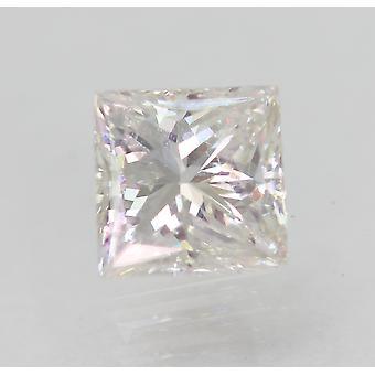 Certified 0.83 Carat F VVS2 Princess Enhanced Natural Diamond 5.17x5.09mm 2VG