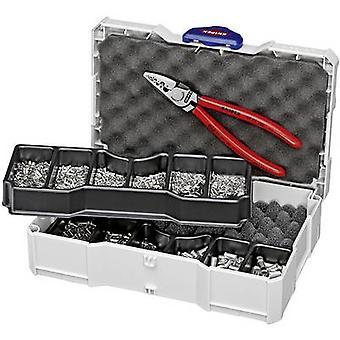 KNIPEX 97 90 05 zakuwarka okucia 0,25 do 16 mm² Incl. Tanos Mini-walizkę produktami, włącznie z końcówki zestaw