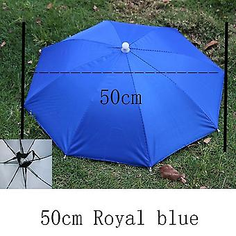 Outdoor Umbrella Hat Foldable Sun Day Rainy Day Hands Free Rainbow Folding & Waterproof Multicolor Hat
