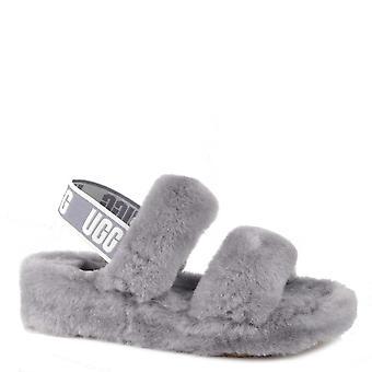 UGG Oh Yeah Soft Amethyst Fluff Slide Sandals