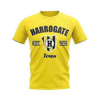 Harrogate Established Football T-Shirt (Yellow)