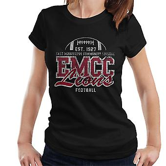 East Mississippi Community College Distressed Lions Football Women's T-Shirt
