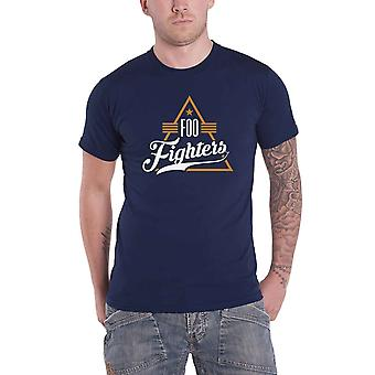 Foo Fighters T Shirt Triangle Band Logo new Official Mens Navy Blue