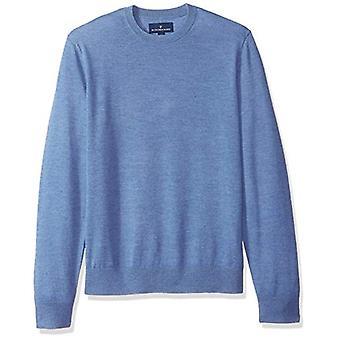 BOTONADO ABAJO hombres's italiano Merino lana ligera Cashwool Crewneck suéter...