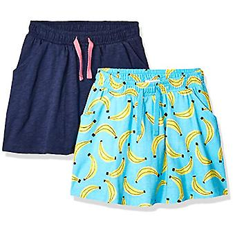 Brand - Spotted Zebra Little Girls' 2-Pack Twirl Scooter Skirts, Banan...