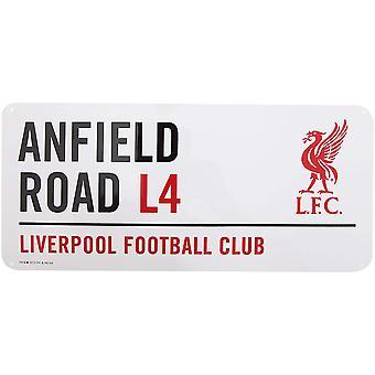 علامة شارع معدنية الرسمية لكرة القدم على نادي ليفربول