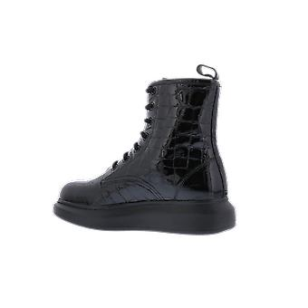 Alexander McQueen H.Boot.Leathe.S.Rubb Glos Black 633922WHY201000 shoe