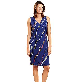 Féraud 3205099-16574 Women's Yachting Blue Beach Dress