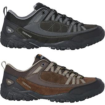Trespass Mens Taiga Suede Low Rise Outdoor Walking Hiking Trainers Shoes