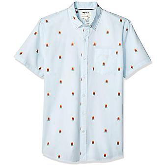 Goodthreads Men's Standard-Fit Kurzarm gedruckt Poplin Shirt, Popsicle, X-Large